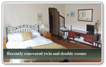 Recently renovated twin and double rooms