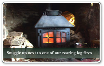 Snuggle up next to one of our log fires